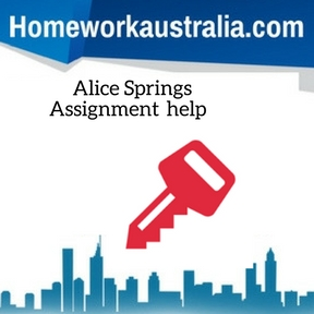 Alice Springs Assignment Help