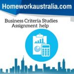 Business Criteria Studies