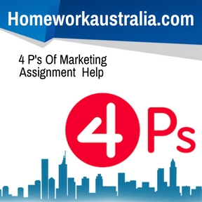 4 P's Of Marketing Assignment Help