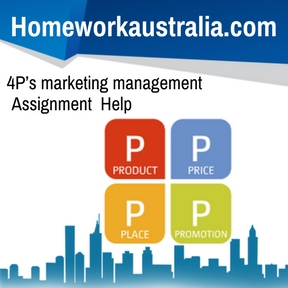 4P's marketing management Assignment Help