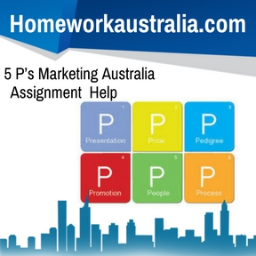 5 P's Marketing Australia Assignment Help
