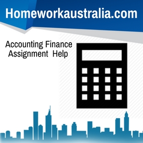 Accounting Finance Assignment Help