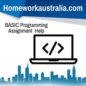 BASIC Programming Assignment Help
