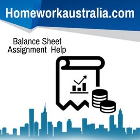 Balance Sheet Assignment Help
