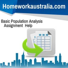 Basic Population Analysis Assignment Help