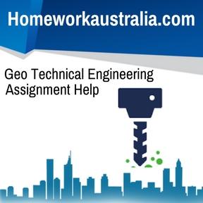 Geo Technical Engineering Assignment Help