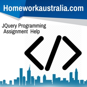 JQuery Programming Assignment Help