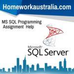 MS SQL Programming