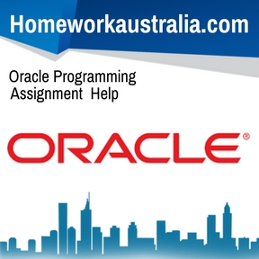 Oracle Programming Assignment Help