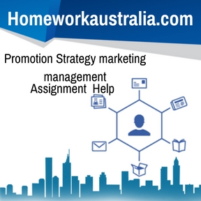 Promotion Strategy marketing management Assignment Help