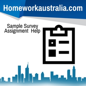 Sample Survey Assignment Help