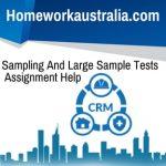 Sampling And Large Sample Tests