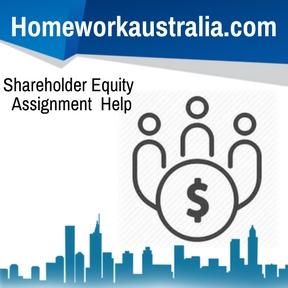 Shareholder Equity Assignment Help