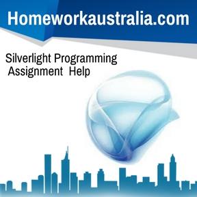 Silverlight Programming Assignment Help