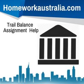Trail Balance Assignment Help