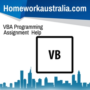 VBA Programming Assignment Help