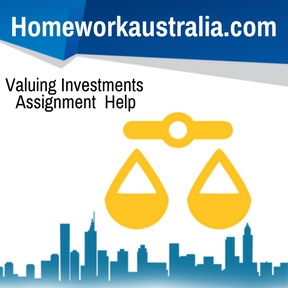 Valuing Investments Assignment Help