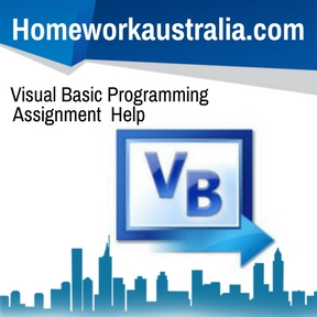 Visual Basic Programming Assignment Help