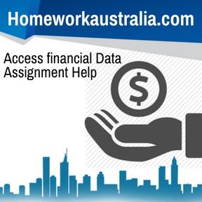 Access financial Data Assignment Help