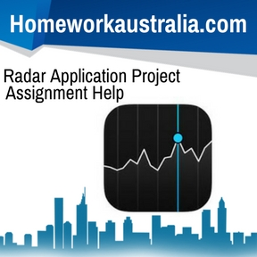 Radar Application Project Assignment Help