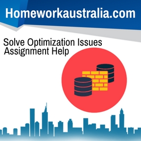 Solve Optimization Issues Assignment Help